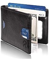 REYLEO Bifold Wallets Front Pocket Minimalist...