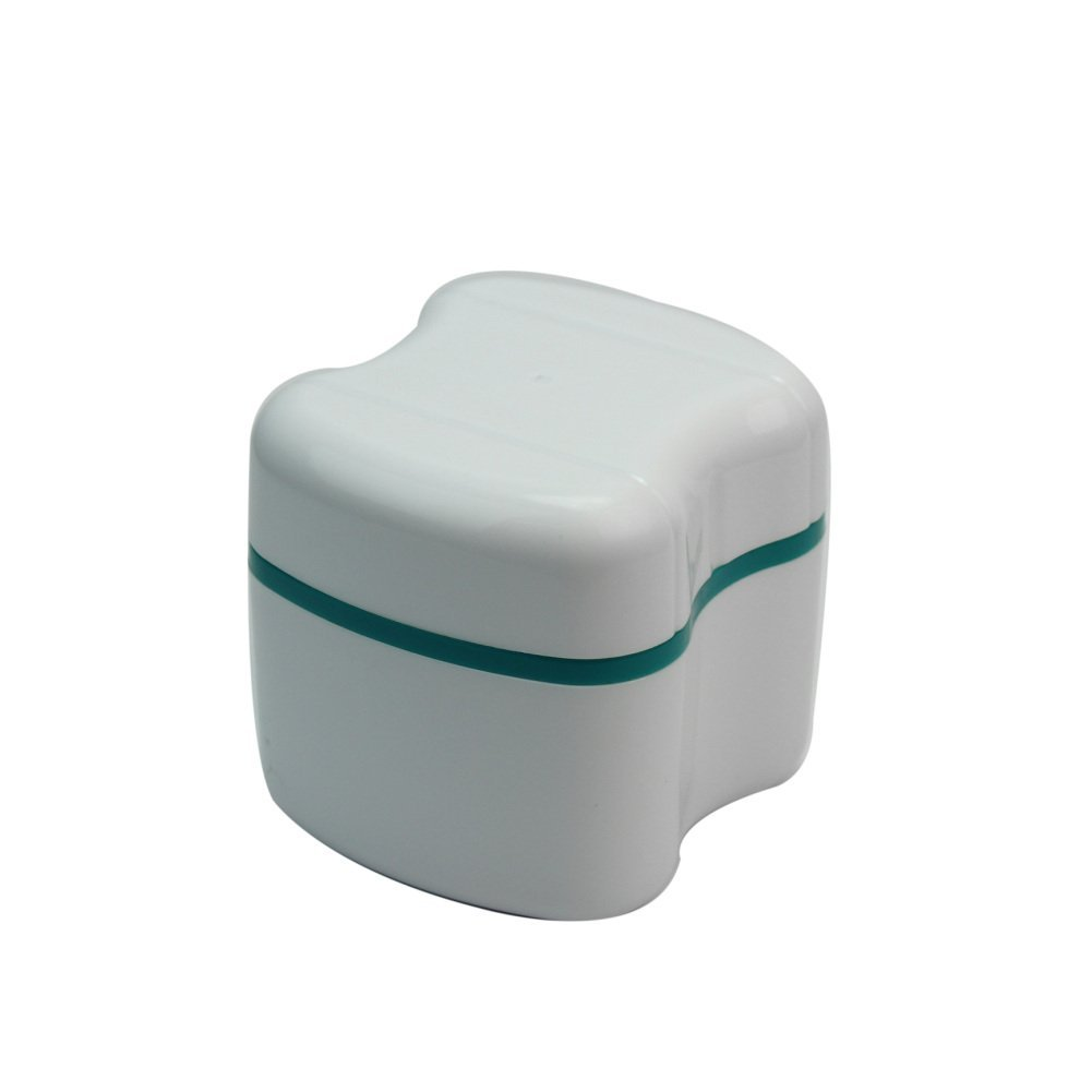 Durable Denture Bath Appliance Box Storage Case Container With Rinsing Washing Basket Refaxi