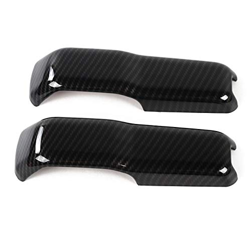 Highitem ABS Car Engine Hood Hinge Cover Decoration Cover Stickers Exterior Accessories for Jeep Wrangler JL 2018 Up (Carbon Fiber)