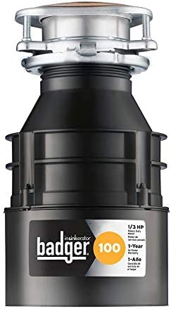 InSinkErator Badger 100 1 3 HP Continuous Feed Garbage Disposal