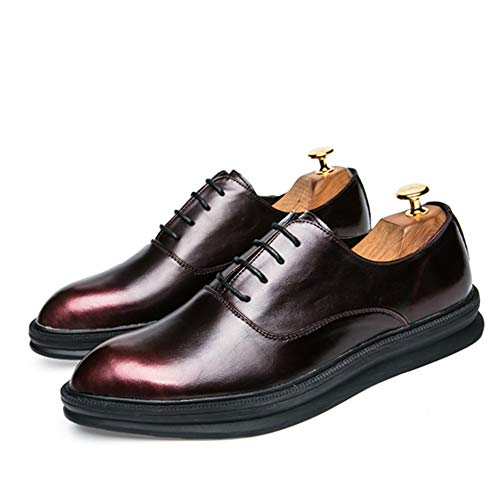 Nero Basse Color EU all'aperto cerimonia Business Men's Stringate Scarpe 2018 Fashion Oxford 40 Dimensione Color Contrast Casual Xujw Rosso shoes Classic Retro scarpe Comode da wnxpqIA7R