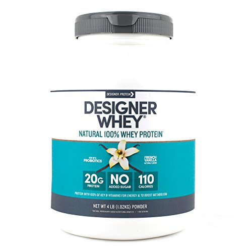 (Designer Whey Protein Powder, French Vanilla, 4 Pound, Non GMO)