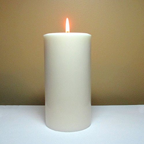 White Unscented Soy Pillar Candle - Choose 4, 6, 9 Inches Tall