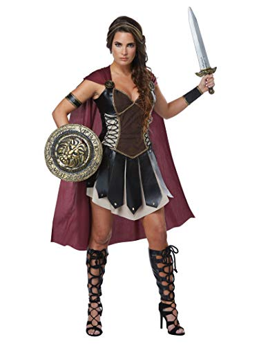 Spartan Goddess Costume (California Costumes Women's Glorious Gladiator Adult Woman Costume, Black/Burgundy,)