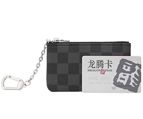 f808d82b78cb Miracle Checkered Zip Key Chain Pouch   Mini Coin Purse Wallet Card ...