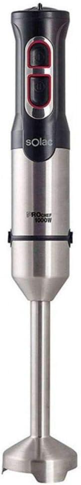 SOLAC Pro Pie Metal - Batidora de mano (1000 W)