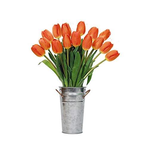 Stargazer Barn Orange Tulips With Vase