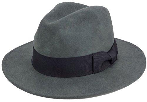 Panama Hat For Men, Wool Felt Dress Hats, Grey (Felt Sombrero)