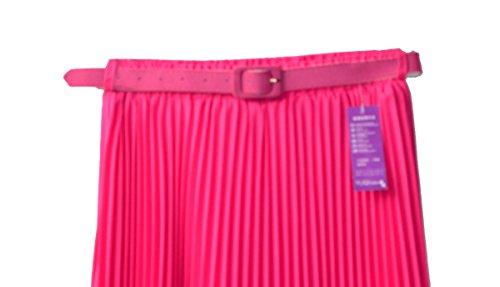 Falda maxi larga para mujer, estilo retro Hot Pink