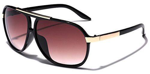 Classic 80s Fashion Aviator Sunglasses Retro Vintage Men's Women's Glasses (Black | - Cheap Fashion Men