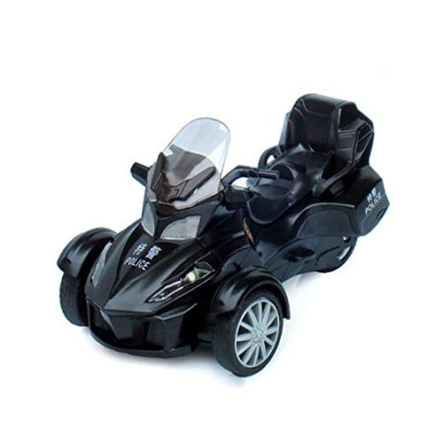 FH Motorcycle Model Alloy Toy Car Three-Wheeled Motorcycle Police Car ()