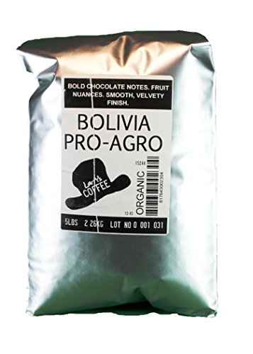 Larry's Coffee Organic Fair Trade Whole Bean, Bolivia, 5-Pound Bag