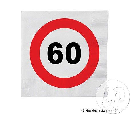 Servietten Geburtstag 60 Jahre Papierservietten Tischdeko Essen Zahl