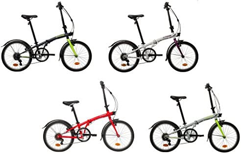 Btwin Bicicleta Plegable Aluminio 2017 4 Colores + Regalo: Amazon ...