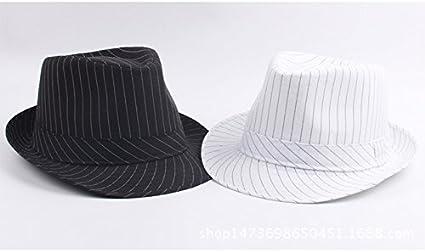 Emorias Jazz Hut Schirmm/ütze Sonnenschutz Hut H/üte Strohhut Sonnenhut Strandhut Sommerhut Streifen Panamahut Damen Herren