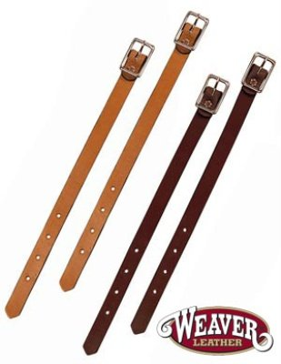 Weaver Bridle Leather Fender Hobbles - Style:Straight Color:Mahogany