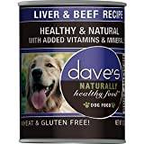 Dave's Naturally Healthy, Liver & Beef For Dogs, 13 oz Can (Case of 12)