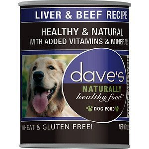 Dave's Naturally Healthy, Liver & Beef For Dogs, 13 oz Can (Case of 12 )