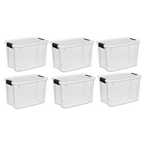 Sterilite 30 Qt. Ultra Storage Latch Box 6 pack by STERILITE