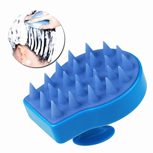 Nument Silicone Shampoo Comb Scalp Massage Brush Color Blue