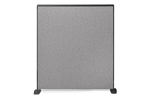 Space Max Freestanding Panel - 66''H x 72''W Pewter Haze Fabric/Charcoal Paint Dimensions: 72''W x 2.25''D x 66''H Weight: 58 lbs by Harmony