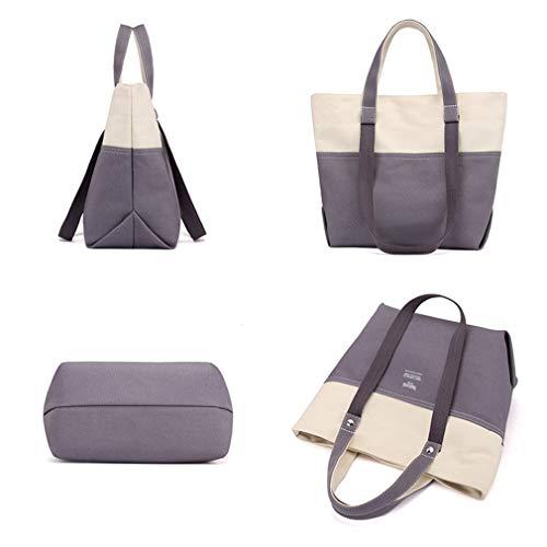 Set Bags Large cm Shoulder Green Capacity 25X15X29 2PC Canvas Women Blue Bag 7R1p7wq