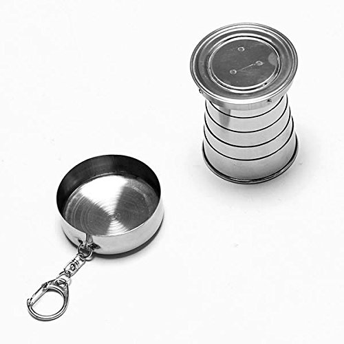 Stainless Steel Portable Outdoor Travel Camping Folding Collapsible Cup by Unknown (Image #4)