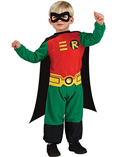 Rubie's Costume Co Teen Titans Robin Jumpsuit, Green/Red/Black, Infant 6-12 Months]()