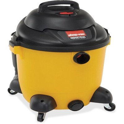 Shop-vac Wet/Dry Vacuum, Industrial, 12G, 2.5HP, 35 Cord, YW/BK
