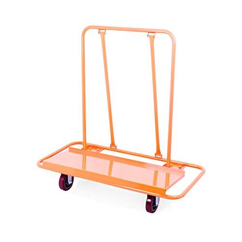 OrangeA Drywall Cart Dolly 3000LB Heavy Duty Sheetrock Panel Cart Professional Drywall Cart with 2 Fixed and 2 Swivel Heavy Duty Casters Plywood Dolly Panel Trolley Truck (3000Lbs Capacity)