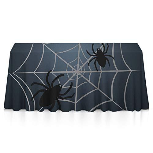 GLORY ART Halloween Spider Web Premium Tablecloths Home