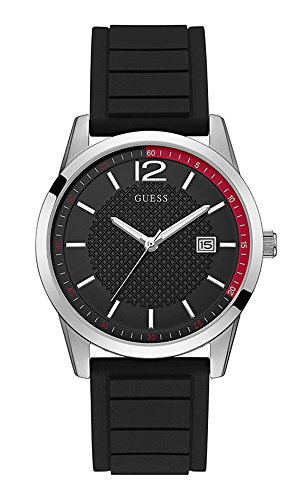 Guess Perry Black Dial Silicone Strap Men's Watch W0991G1