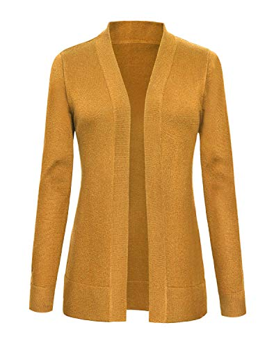Urban CoCo Women's Long Sleeve Open Front Knit Cardigan Swea
