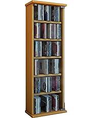 VCM Elementa Opbouwprogramma voor 102 cd's of 36 dvd's of 20 video's, rek voor meubels, keuze uit verschillende kleuren
