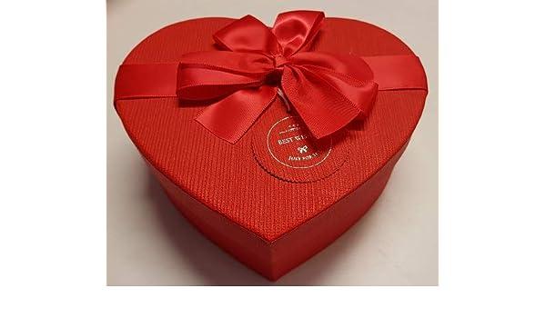 Dulce y salato Caja vacía roja de cartón Forma de Corazón 7,5 * 19 * 18 cm Aproximadamente 1 Unidades San valentín Idea Regalo: Amazon.es: Hogar
