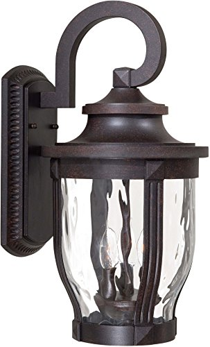 Minka Lavery Outdoor Wall Light 8763-166 Merrimack Aluminum Exterior Wall Lantern, 180 Watts, Bronze ()
