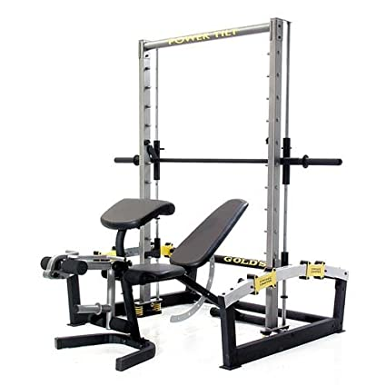 Gold s gym xrs olympic workout rack with safety spotters