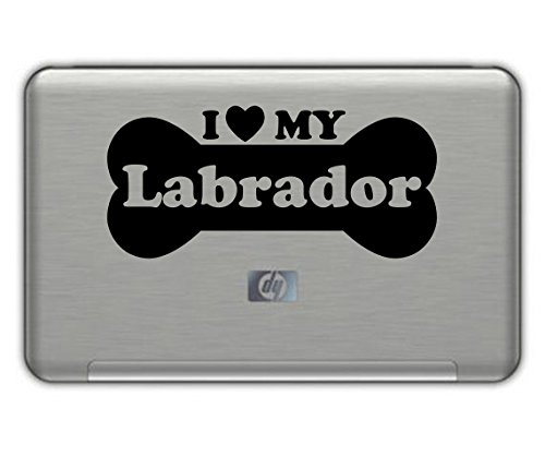"""I Love My LABRADOR vinyl decal 3.5""""x7"""" BLACK Free Shipping, used for sale  Delivered anywhere in USA"""