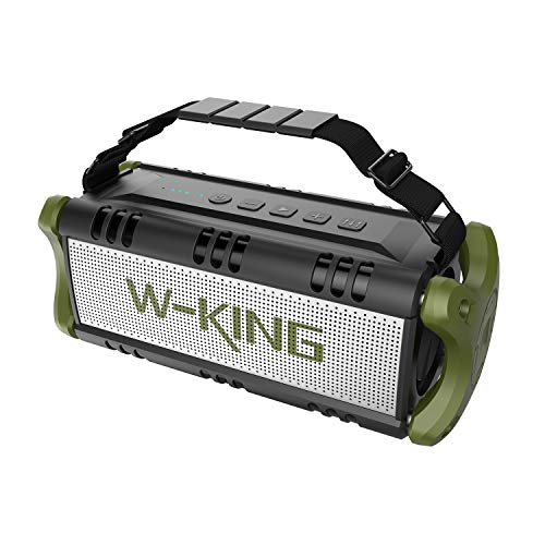 W-KING Bluetooth Speakers, Built-in 8000mAh Battery Power Bank, 50W Portable Wireless Speaker, HD Stereo Sound TWS 100W Bass Subwoofer, 24-Hour Playtime, 100ft Bluetooth Range, Party Outdoor (Green)