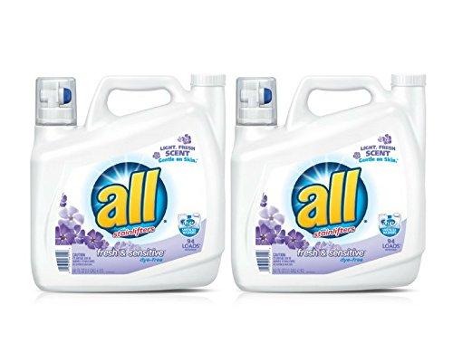 all Liquid Laundry Detergent Fresh & Sensitive, 141 Ounce, 94 Loads (2 bottles)