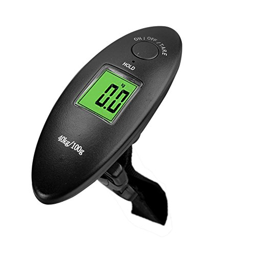 MAZIMARK--40kg/100g Weight LCD Display Portable Electronic Travel Hanging Luggage Scale by MAZIMARK