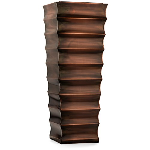 H Potter Decorative Ribbed Outdoor Indoor Flower Planter Small Antique Copper Finish
