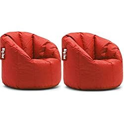 Big Joe Milano Bean Bag Chair | Filled with UltimaX Beans (Fire Engine Red ( PACK OF 2))
