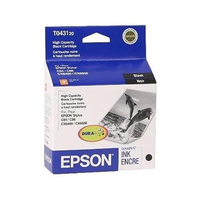 Epson T0431 Black Ink Cartridge - Inkjet - 950 Page - Black - 1