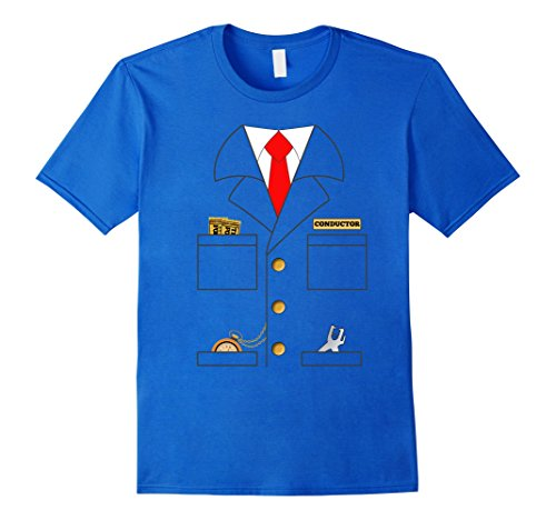 Men's Train Conductor Shirt Costume | Adults | Kids XL Royal (Conductor Costume For Adults)