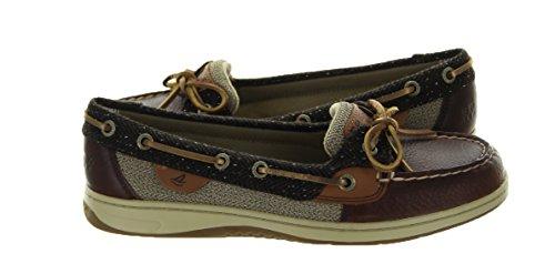 Sperry Top-Sider Women's Angelfish Menswear Boat Shoe, Tan/Herringbone, 7.5 M US