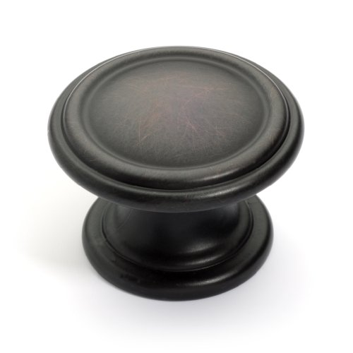 Dynasty Hardware K-8038-S-10B-25PK Two Ring Cabinet Hardware Knob, Oil Rubbed Bronze, 25-Pack