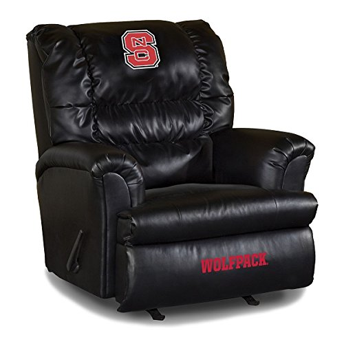 NCAA North Carolina State University Leather Big Daddy Recliner, One Size, Multicolor (Big Team Recliner Daddy Chair)