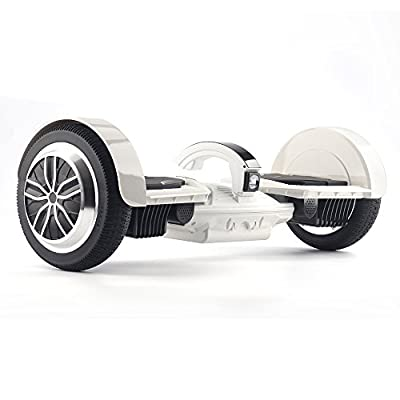 "UL2272 Certified Smart Self Balancing Hoverboard 7.5"" Wheels K5 with Dual Mainboard Dual Bluetooth Speakers and Smart LED Light- White by Dongguan Jomo Electronic Co Ltd"