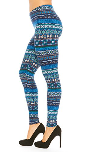 Just One Women's Seamless ED Leggings (Teal, (Sensory Friendly Halloween Party)